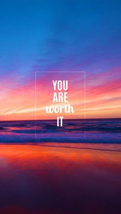 You Are Worth It. Simple and wonderful iPhone wallpapers quotes. Typography quotes and inspirational words. Tap to see more quotes wallpapers for iPhone. - @mobile9