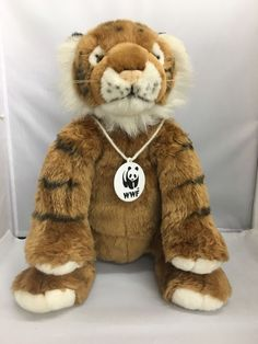 Build A Bear 14 Inch Tiger 2001 WWF EUC #BuildaBear