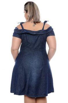 vestido jeans plus size justine Vestidos Plus Size, Plus Size Dresses, Plus Size Outfits, African Lace Dresses, African Fashion Dresses, Fashion Outfits, Curvy Women Fashion, Plus Size Fashion, Modern African Clothing