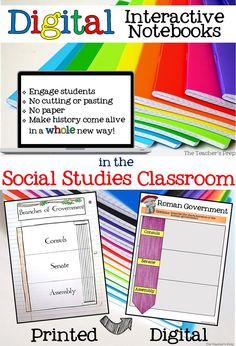 {Blog Post} Make history come alive in a whole new way with digital interactive notebooks in your Social Studies classroom! #socialstudies #interactivenotebook #digitalinteractivenotebook #digitalINB