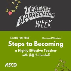Join Jeff Marshall, author of the ASCD book The Highly Effective Teacher: 7 Classroom-Tested Practices That Foster Student Success, in an engaging webinar that will guide you through critical teacher actions that are within your control to improve and that influence student success, such as creating challenging, rigorous learning experiences and facilitating interactive, thoughtful learning.