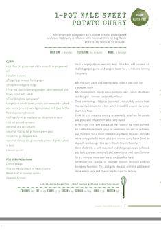 Kale, sweet potato soup