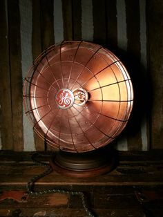 One-of-a-kind Vintage GE Heat Lamp Converted by UrsMineNours