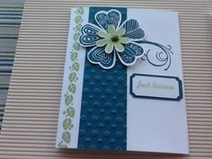 CTMH card from Petty Petals stamp set and art philosophy Cricut cartridge
