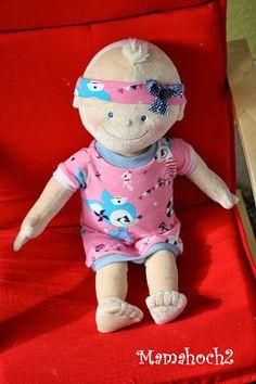 Mamahoch2: Puppenoberteile, Schnittmuster anpassen