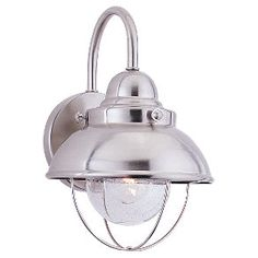 8870-98,Single-Light Sebring Wall Lantern,Brushed Stainless