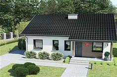 Projekt domu Murator C333j Miarodajny - wariant X 86,6 m2 - koszt budowy 174 tys. zł - EXTRADOM Outdoor Decor, House, Flat, Home Decor, Tiny Houses, Casa De Campo, Bass, Room Decor, Haus
