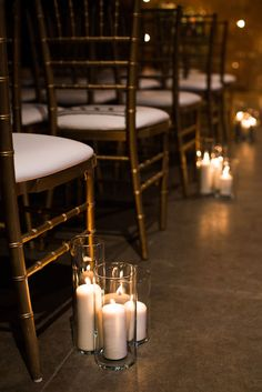 For an extra romantic ceremony vibe line your aisles with candles.