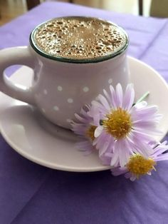 "Cup of Spring "" ❥ ❥ "" Coffee Vs Tea, Sweet Coffee, Coffee Cafe, Coffee Break, Coffee Drinks, Drinking Coffee, Good Morning Coffee Images, Morning Pics, Turkish Tea"
