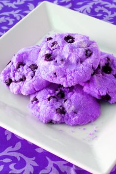 Purple cookies perfect for a little kids birthday party!