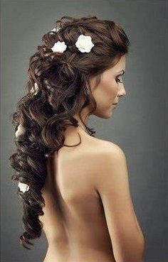 Awesome Long Brunette Homecoming Hairstyle