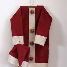 Christmas Santas Coat and Hat  pattern or finished RTG by RaggedyRee,