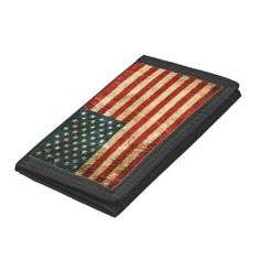 Scratched and Worn Vintage American Flag Trifold Wallets http://www.zazzle.com/scratched_and_worn_vintage_american_flag_wallet-256533960408346938?rf=238194283948490074&tc=pin