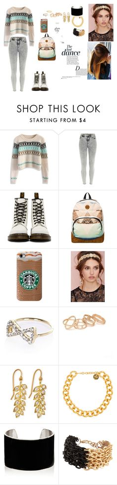 """""""warm the way for a happy girl"""" by karina-fiestisova ❤ liked on Polyvore featuring Chicwish, River Island, Dr. Martens, Roxy, Berry, With Love From CA, Jamie Wolf, Kate Spade, Alexander McQueen and IaM by Ileana Makri"""