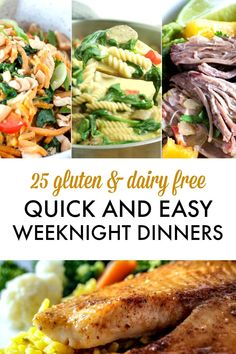Sirtfood Diet Plan Discover 25 Quick and Easy Weeknight Dinners gluten free dairy free Eat or Drink 25 quick and easy weeknight dinners. The perfect collection of weeknight dinners. Many of them are also The perfect easy meals to make after work. Dairy Free Recipes Easy, Dairy Free Snacks, Gluten Free Meal Plan, Gluten Free Recipes For Dinner, Allergy Free Recipes, Dairy Free Dinners, Gluten Dairy Free, Gluten Free Lunches, Recipes Dinner