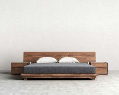 99 Elegant Platform Bed Design Ideas- 99 Elegant Platform Bed Design Ideas – Platform beds have become the choice for the individual that demands style and versatility for their bedroom. The concept of a wood or metal structure… - Rustic Bedroom Furniture, Bed Furniture, Furniture Design, Bedroom Decor, Furniture Stores, Furniture Cleaning, Furniture Online, Luxury Furniture, Modern Headboard