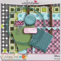 Elton - digital scrapbooking mini kit from Caroline B. This mini kit is a great if you quickly need to make a layout with fun elements.