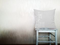 It's time for Coffee pillow typography throw by HomeLivingIdeas, $35.40