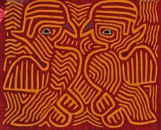 Vintage Mola Cuna Indian Folk Art Panama Crafts by CakeBoxVintage, $24.00
