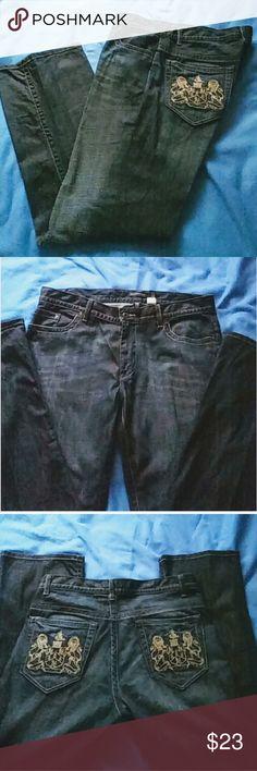 Men's Inc International Concepts Jeans Dark Blue denim.  36 x 32. EUC.  Like new! INC International Concepts Jeans Straight