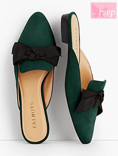 Edison Kid Suede Bow Mules