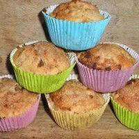 Muffins pommes cannelle, sans oeufs sans lait sans gluten »