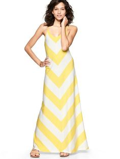 Gap chevron maxi dress