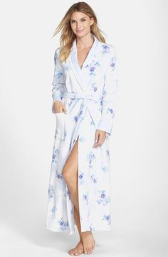 Carole Hochman Designs Bouquet Print Quilted Jacquard Robe available at #Nordstrom