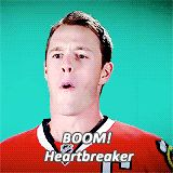impersonating Patrick Kane's celly