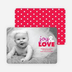 joy & LOVE Holiday Photo Cards by giggle from Paper Culture