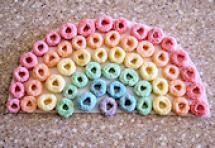Fun Crafts Toddlers and Preschoolers Will Love: Cereal Rainbow