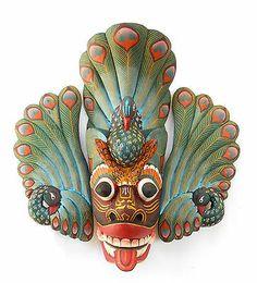 Vintage Wooden Maura Raksha Mask RARE Asian Mask SAB0045 | eBay
