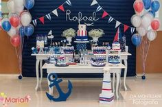 Open this one up I really like this stuff. Except for the fondant Sailor Baby Showers, Anchor Baby Showers, Baby Shower Themes, Baby Boy Shower, Sailor Party, Boy Christening, Nautical Party, Festa Party, Boy First Birthday