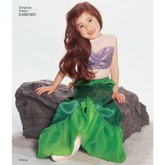Simplicity Pattern EA991901 Premium Print on Demand Child's Disney Princess Costumes