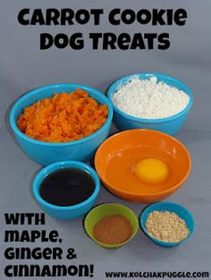 Tasty Carrot Cookies for dogs!