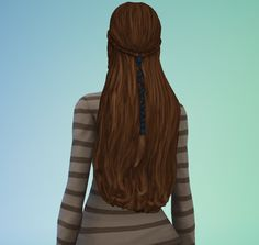 ** STATUS tested, a pretty mesh, sufficient haircolors - by Sage at s3sage - The Sims Medieval hair conversion to TS4
