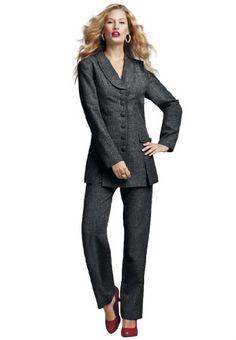 The Best Dressed Women's Plus Size 10-Button Pantsuit (Black,28 W) The Best Dressed,http://www.amazon.com/dp/B005GPJ14U/ref=cm_sw_r_pi_dp_OWCDsb1SY1PQ0K62