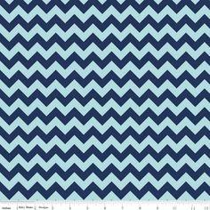 Navy Chevron Fabric - Small Tone on Tone - Riley Blake Chevron-  HALF YARD. $4.45, via Etsy.