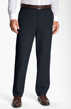 Free shipping and returns on John W. Nordstrom® Smartcare™ Flat Front Supima® Cotton Pants at Nordstrom.com. A trim, modern cut updates flat-front trousers fashioned from customer-favorite Supima® cotton with a classic rise and a Smartcare™ finish for virtually wrinkle-free wear.