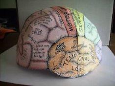 """sombrero """"cerebro"""" imprimible"""