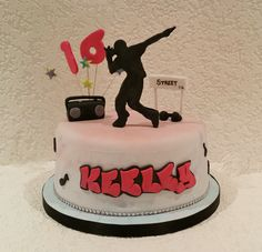 Street dance inspired cake by Baking Angel