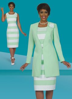 Benmarc Executive Style 11413. Stunning 2 piece  Benmarc Executive jacket dress. Great church dress, work dress or special occasion dress. Jacket is 34 inches and dress is 42  inches. Available in missy and plus sizes from 12 to 30. #fitritefashions #skirtsuit #businesssuit #springfashion