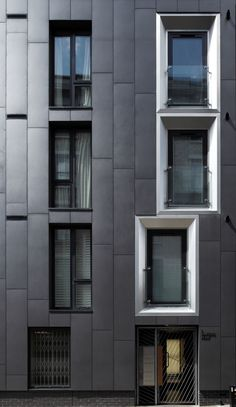 Anthracite EQUITONE facade panels in Bakers Row, London. #architecture #material #facade