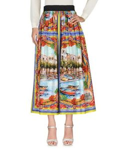DOLCE & GABBANA Long Skirt. #dolcegabbana #cloth #dress #top #skirt #pant #coat #jacket #jecket #beachwear #