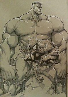 Hulk and Spider-Man ¤° by Eddie Nunez