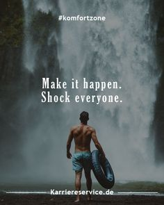 Lebensweisheiten / Sprüche Motivation Inspirational quotes and motivational slogans to get out of the comfort zone: Make it happen. Shock everyone. Motivation Success, Success Quotes, Positive Thoughts, Positive Quotes, Wisdom Quotes, Life Quotes, Motivational Slogans, Magic Words, Girly Quotes