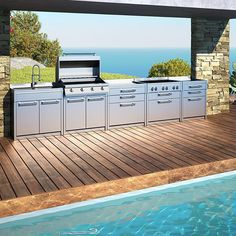 Home Outdoor Living Kitchens On Pinterest Outdoor