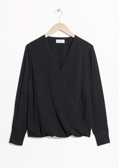 & Other Stories image 1 of Wrap Top in Black