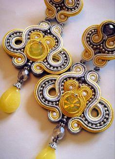 DIY Soutache tutorial Tamarindo earrings por AdelsLaboratory