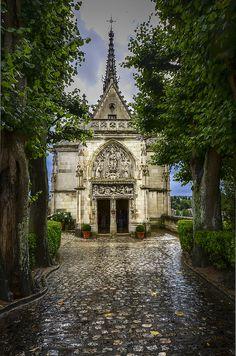 Le tombeau de Leonardo da Vinci se trouve à l'intérieur de la Chapelle de Saint Hubert, Amboise, France